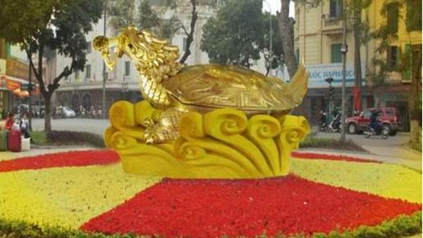 Đề xuất dựng tượng rùa vàng 10 tấn ở Hồ Gươm