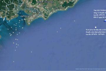 Thủ tướng chỉ đạo tìm kiếm tàu chìm trên biển Vũng Tàu
