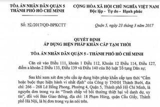 Tòa hủy 'trát' cấm đăng với báo Giao thông về Thành Bưởi