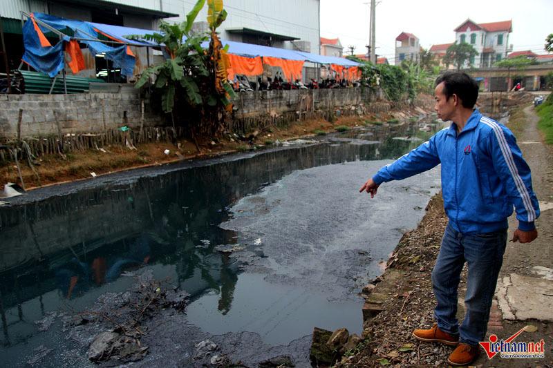 Hà Nội: Tưới rau sống bằng nước thải đen ngòm