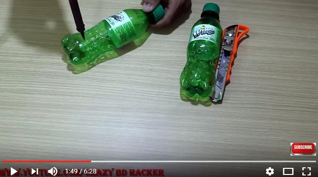 1 cái quạt, 2 chai nhựa: 3 phút có ngay máy phun sương mát lạnh