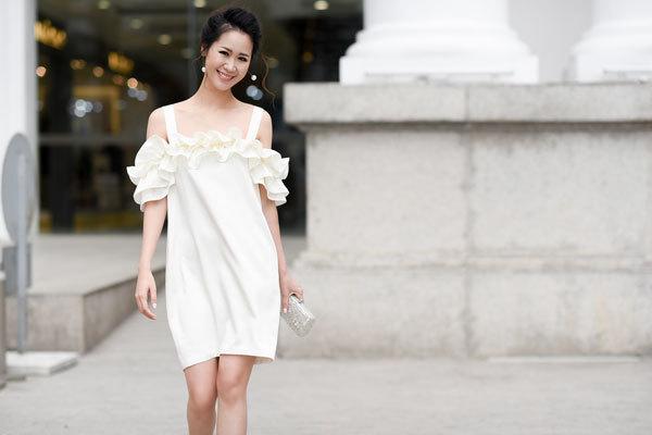 Vẻ đẹp rạng ngời của Hoa hậu thân thiện Dương Thuỳ Linh