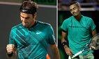 """Thắng nghẹt thở """"trai hư"""" Kyrgios, Federer chiến Nadal ở chung kết"""