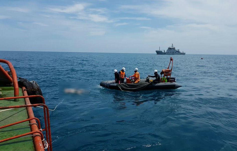 Chìm tàu 9 người chết: Công an khám nghiệm tàu Petrolimex 14