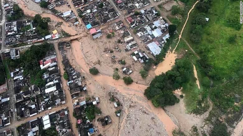 Lũ lụt, lở bùn ở Colombia, hơn 200 người chết