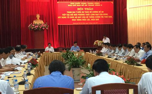 TP.HCM, hội thảo, đề án đổi mới, đề xuất phân quyền
