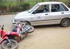 Xe tập lái gây tai nạn, hai vợ chồng nhập viện
