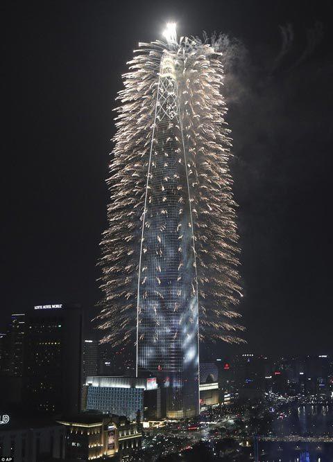 Đứng trên tháp chọc trời ở Seoul nhìn sang Triều Tiên