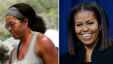 Mái tóc tự nhiên của bà Obama gây sốt mạng xã hội