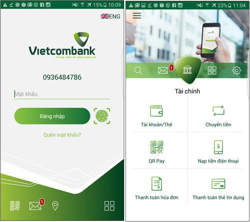 Vietcombank ra mắt VCB-Mobile B@nking phiên bản mới