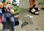 Du khách ngã vỡ mặt vì móc sắt thành 'bẫy' người trên phố Sài Gòn