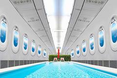 Trải nghiệm cảm giác đi bơi ngay trên một chiếc máy bay