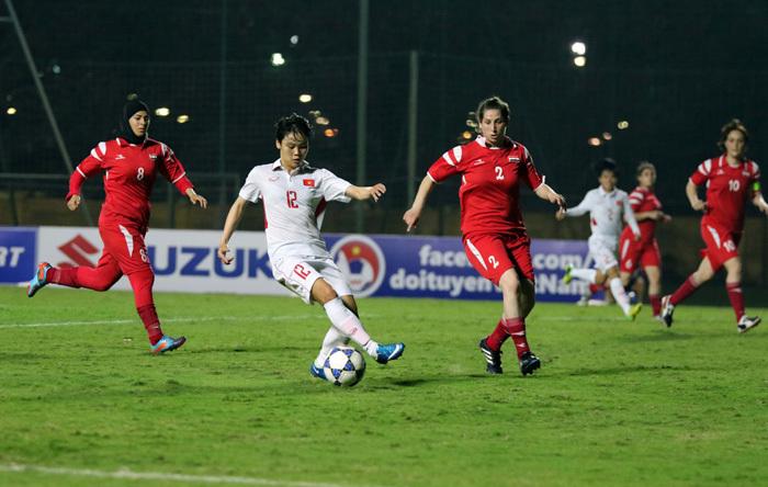 Tuyển nữ Việt Nam thắng 11-0 ở vòng loại Asian Cup 2018
