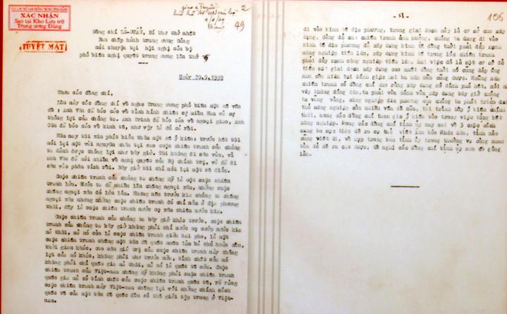 Bút tích Tổng bí thư Lê Duẩn trong những văn bản tuyệt mật