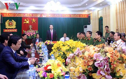 Chủ tịch nước thăm, làm việc với Công an tỉnh Phú Thọ