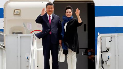 Những hình ảnh đầu tiên về Chủ tịch Trung Quốc ở Mỹ