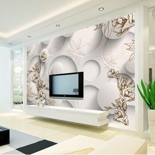 giấy dán tường 3D, trang trí nhà, mẫu căn hộ đẹp