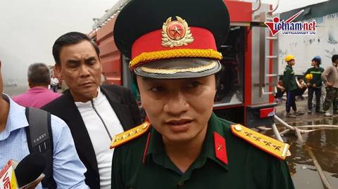 Đại úy Việt trả lời về vụ cháy