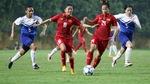 Thắng Singapore 8-0, tuyển nữ Việt Nam chiếm ngôi đầu bảng