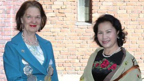 Chủ tịch Quốc hội gặp Thị trưởng thành phố Stockholm, Thụy Điển