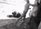 2 gã say phá phách đen đủi gặp chủ cửa hàng là cao thủ Judo