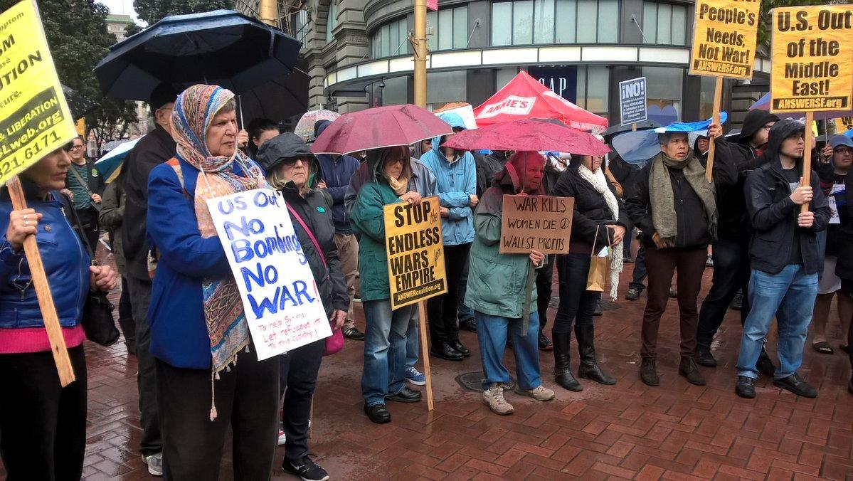 Dân Mỹ rầm rộ biểu tình phản đối tấn công Syria
