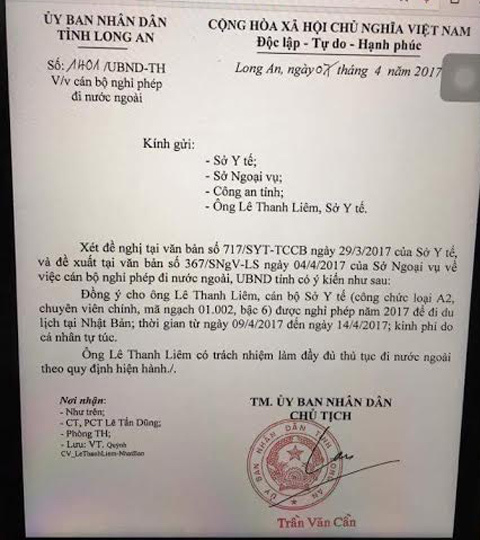 Nguyên Giám đốc Sở Y tế Long An bị cấm xuất cảnh tại sân bay