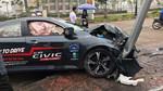 Honda Civic 2017 lái thử của đại lý gặp tai nạn bẹp rúm ró