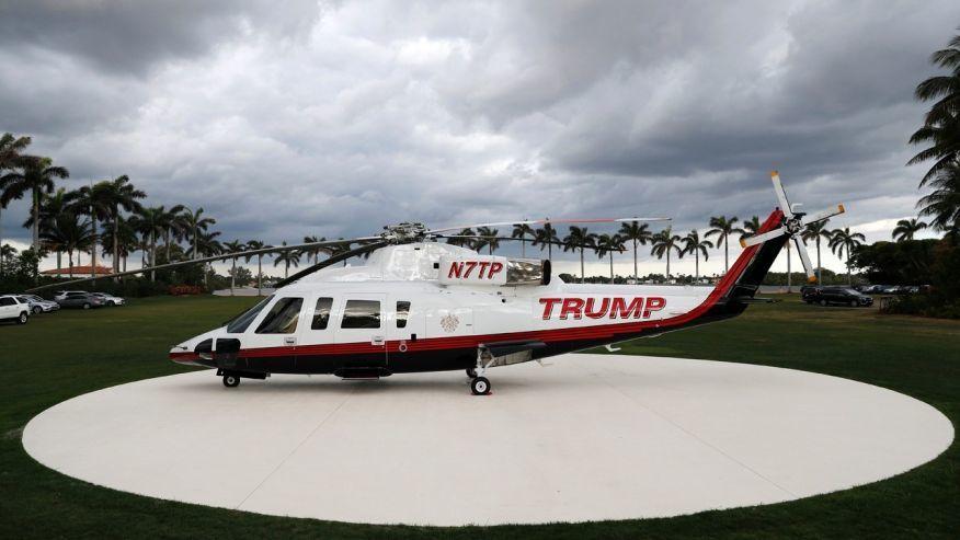 Trực thăng riêng của ông Trump xuất hiện khó hiểu tại biệt thự Mar-a-Lago