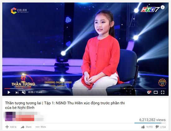 Giọng ca 7 tuổi hát 'Bún riêu cua đồng' hút 6 triệu lượt xem