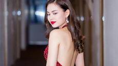 Giang Hồng Ngọc váy đỏ khoe lưng trần quyến rũ