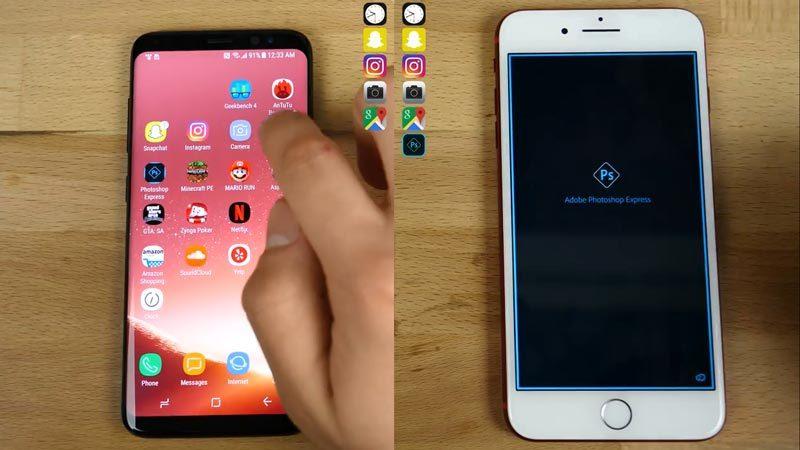 iPhone 7 Plus cho Galaxy S8 'hít khói' trong bài kiểm tra tốc độ