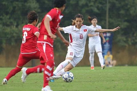 Nữ Việt Nam 0-0 Nữ Myanmar phút thứ 6