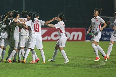 Nữ Việt Nam 1-0 Nữ Myanmar Tuyết Dung ghi bàn phút 55