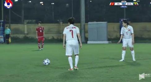 Nữ Việt Nam 1-0 Nữ Myanmar phút 77