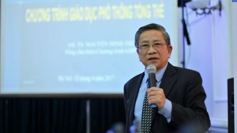 GS Nguyễn Minh Thuyết nói về cơ sở khoa học xác định phẩm chất năng lực học sinh