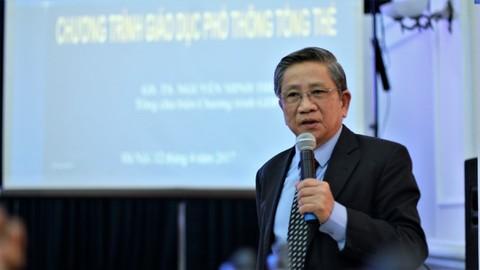 GS Nguyễn Minh Thuyết giải thích về hoạt động trải nghiệm sáng tạo trong chương trình giáo dục phổ thông mới
