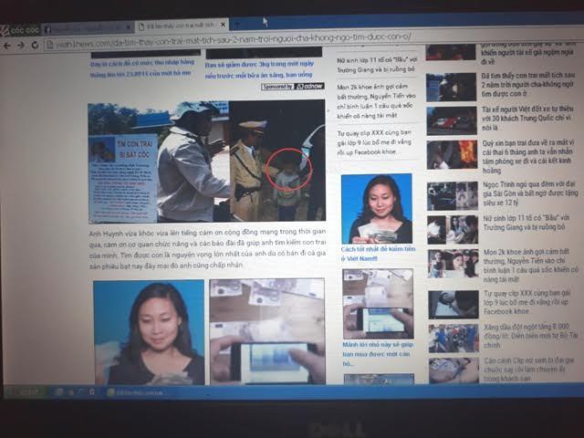Trang mạng bịa chuyện người cha tìm được con sau 2 năm mất tích