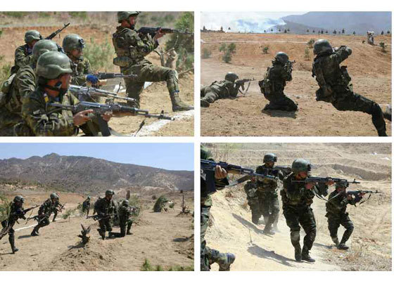 Xem lính tinh nhuệ Triều Tiên thi nhảy dù, tấn công mục tiêu