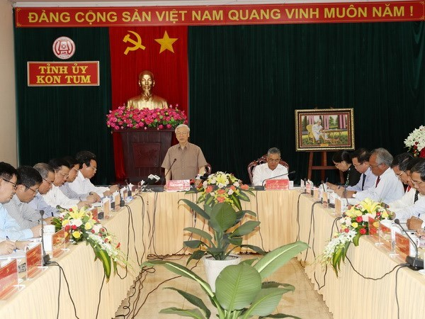 Tổng bí thư Nguyễn Phú Trọng, Tổng bí thư, Nguyễn Phú Trọng,  Kon Tum