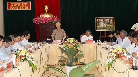 Tổng bí thư: Kon Tum tiếp tục phát triển nhanh hơn và bền vững