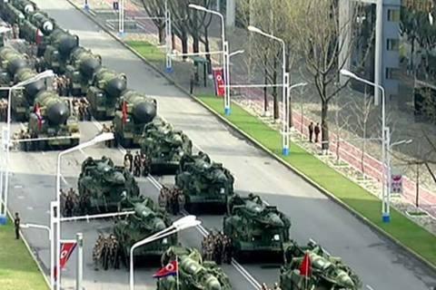Triều Tiên khoe tên lửa đạn đạo phóng từ tàu ngầm tại lễ duyệt binh
