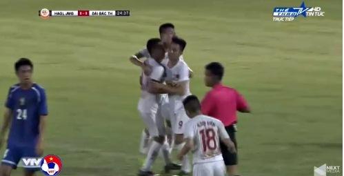U19 HAGL 1-0 U19 Đài Loan Tiến Đạt mở tỷ số phút 25