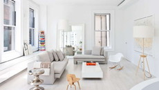 Ngắm căn hộ chung cư 50m2 hiện đại với gam màu trắng xám