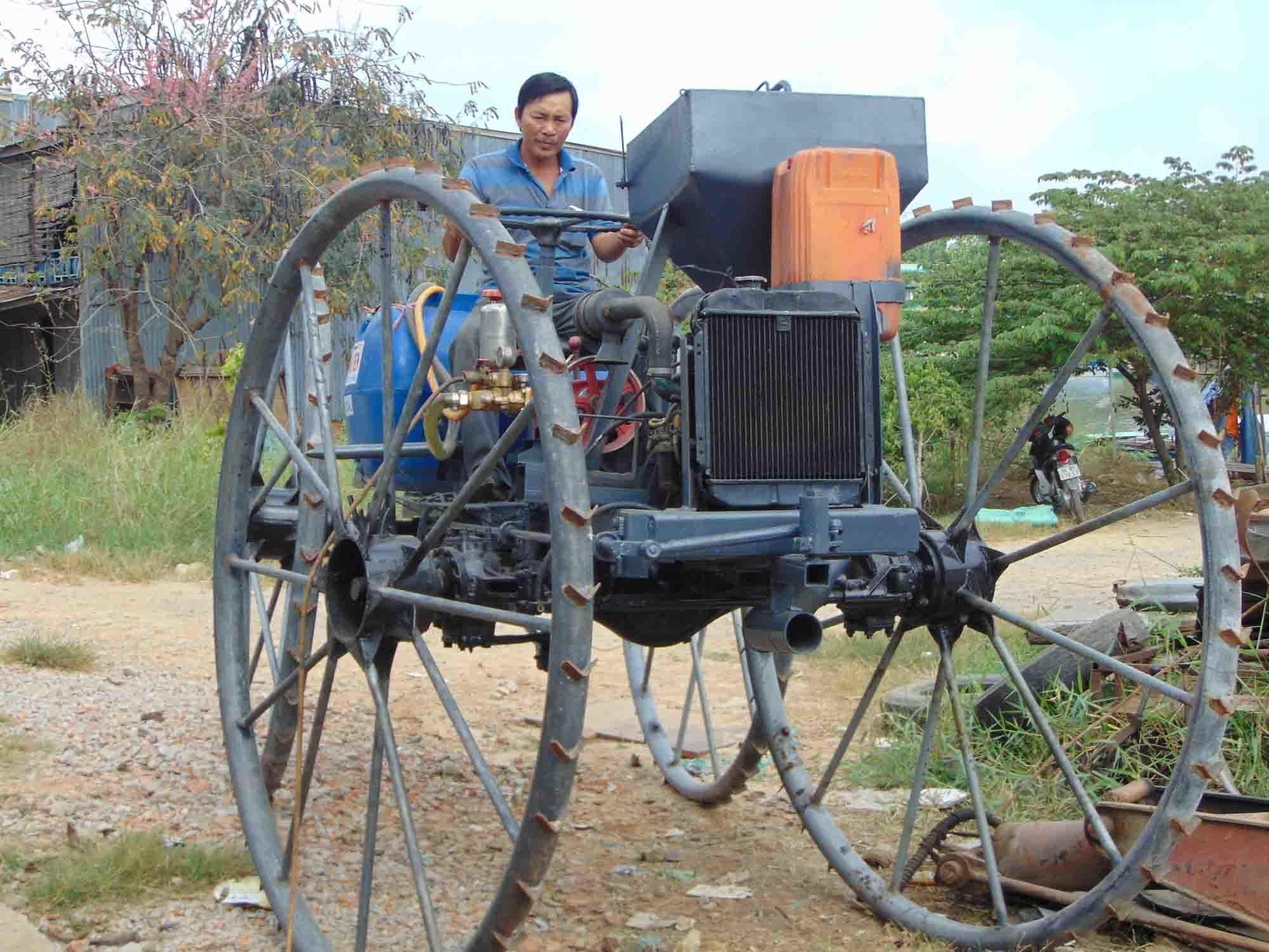Nông dân, chế tạo, sáng chế, máy đa chức năng, Campuchia, kỹ sư
