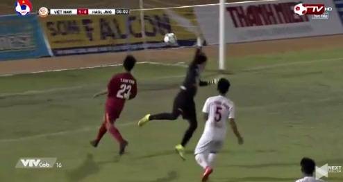 U19 Việt Nam 1-0 U19 HAGL phút 6 Danh Trung
