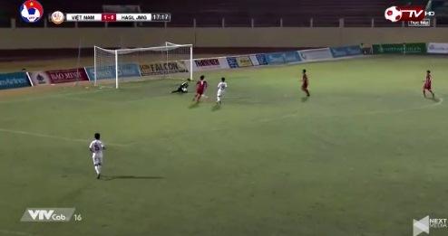 U19 Việt Nam 1-0 U19 HAGL phút 18 Văn Nam