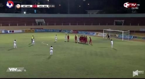 U19 Việt Nam 1-0 U19 HAGL phút 32 Bảo Toàn