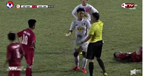 U19 Việt Nam 1-0 U19 HAGL phút 64 Trung Nghĩa thẻ đỏ