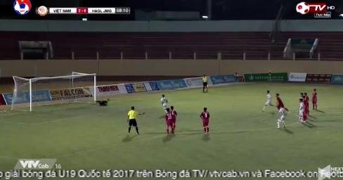 U19 Việt Nam 2-1 U19 HAGL Bảo Toàn pen phút 69